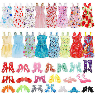 36PCS Barbie Doll Clothes - Doll Shoes Party Gown Outfit Toy Accessories Gift