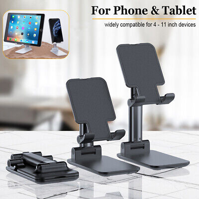 Universal Aluminum Phone Tablet Holder Folding Desk Stand Mount For iPhone iPad