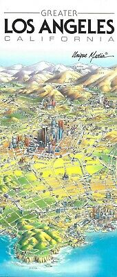 Map of Los Angeles California by Unique Media Folded Artistic Illustrated Map