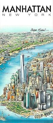 Map of Manhattan New York by Unique Media Folded Artistic Illustrated Map