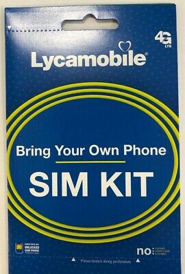 Lycamobile 1st Month Free Preload with 23 Sim Card