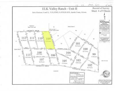 36-5 acres recreational lot Elk Valley Ranch St- Johns Apache County Arizona