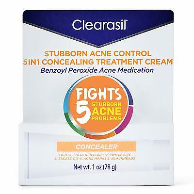 Clearasil Stubborn Acne Control 5in1 Concealing Treatment Cream 1 oz-