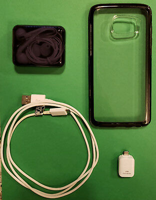 Samsung 7S Edge Accessories Otterbox Case Headphones USB Connector - Cable