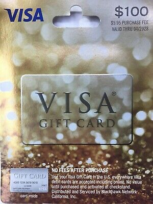 Not Activated 100 Gift Card 0 Balance Mailed Same Day Priority Shipping