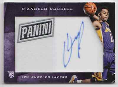 2015-16 Panini Cyber Monday DAngelo Russell Rookie Auto Manufactured Patch