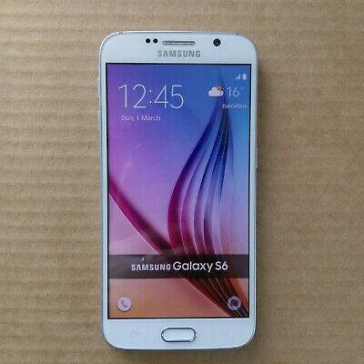 Dummy Phone Display Toy Samsung Galaxy S6 White Colorful Screen Non-Working
