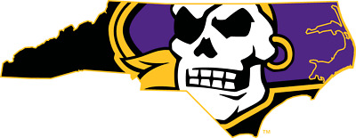 East Carolina Pirates 4 Inch NCAA Color Die-Cut Decal  Sticker Free Shipping