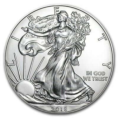 2018 1 oz Troy Fine American Eagle Silver  BU Coin beautiful Liberty design