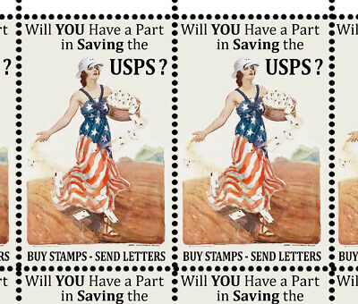 SAVE The Postal Service 1 - Artistamps Faux Postage Cinderellas  Mail-Art