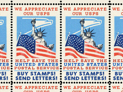 SAVE The Postal Service 3 - Artistamps Faux Postage Cinderellas  Mail-Art