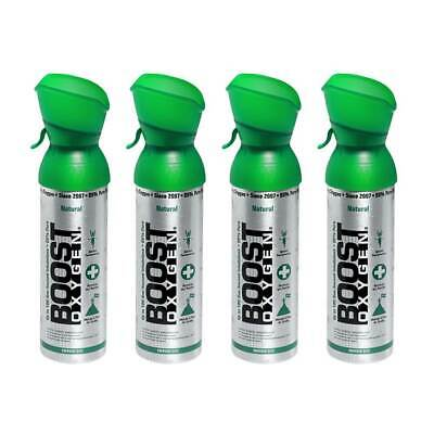 Boost Oxygen Natural Portable 5 Liter Pure Canned Oxygen Canister 4 Pack