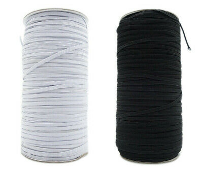 130 Yards Elastic Band Cord For DIY Trim Spandex Make Face Cover String USA