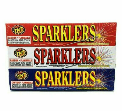 45 Count Gold TNT Sparklers NEW Weddings 4th of July Backyard fun