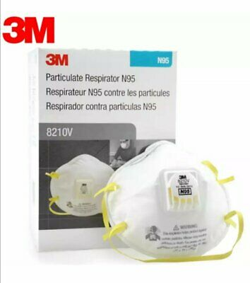 3M 8210V N95 Particulate Respirator W Exhalation Valve 10 Masks Box EXP 032026