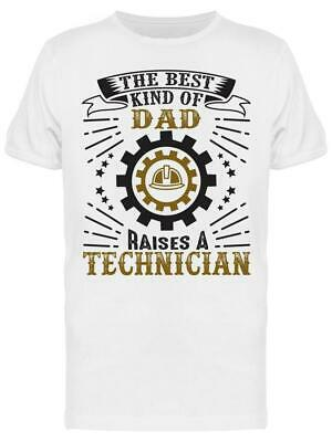 Technician Dad Fathers Day Tee Mens -Image by Shutterstock
