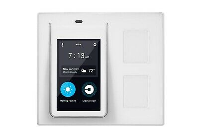 Wink Relay Wall-Mounted Smart Home Controller 4-3 Touchscreen White PRLAY-WH01