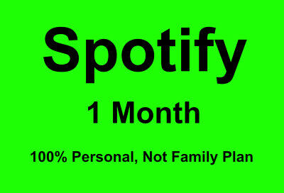 Registered in the USSpotfy Premium for 1 Months