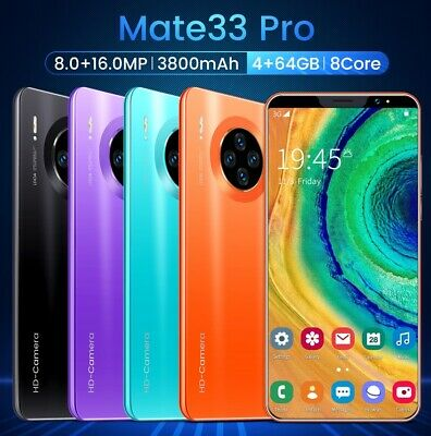 Mate33Pro Mobile Phone 5-8 4-64GB Smart Phone Android Smartphone Dual SIM