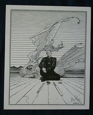 1986 Science Fiction Fantasy Comic Art Print by Moebius Signed