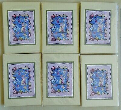 LADY ON THE ROSES FINE ART CARD KAREN SILTON HAND PAINTED TILE ARTIST 45 PCS-