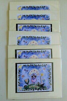 THE QUEEN OF HEARTS FINE ART 6 CARD KAREN SILTON HAND PAINTED TILE ARTIST