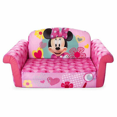 Marshmallow Furniture 2-in-1 Kids Flip Open Sofa Furniture Couch Minnie Mouse