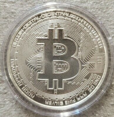 2021 Bitcoin 1 oz -999 fine Solid silver commemorative AOCS  Limited Original