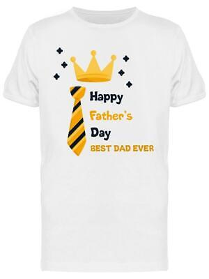 Happy Fathers Day Crown Tee Mens -Image by Shutterstock