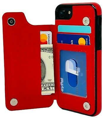 iPhone 7 Plus  8 Plus Case Leather Card Holder Magnetic Wallet Cover for Apple