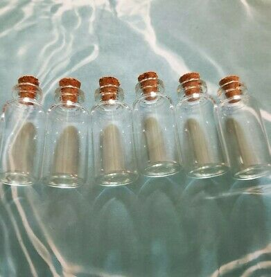 10ml Glass Bottles With Corks Bottle Charms Set of 6