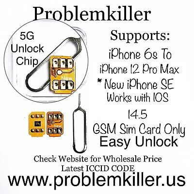 Problemkiller Unlock Chip Sim Card For iPhone 6s to iPhone11 ProMax IOS14-114-2