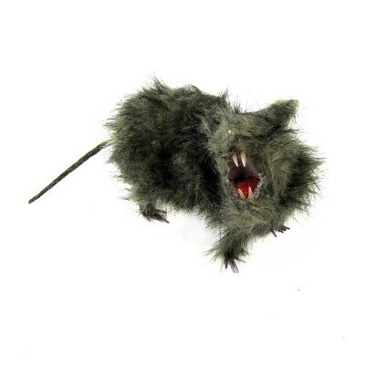Fake Fur Rat Scary Rodent Haunted House Prop Office Prank Halloween Party Decor