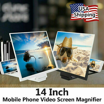 14 Mobile Cell Phone Screen Magnifier Enlarged Amplifier Stand Bracket Folding