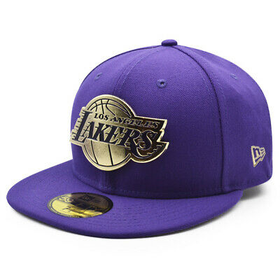 Los Angeles Lakers NBA The Metal Touch 59FIFTY Fitted Hat - PurpleGold