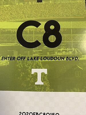 1 Tennessee FLORIDA  C-8  PARKING PASS ENTER OFF LAKE LOUDOUN SHORT WALK