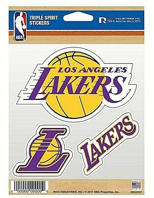 Los Angeles Lakers Triple Spirit Stickers  Decals  3 Pack Free Shipping