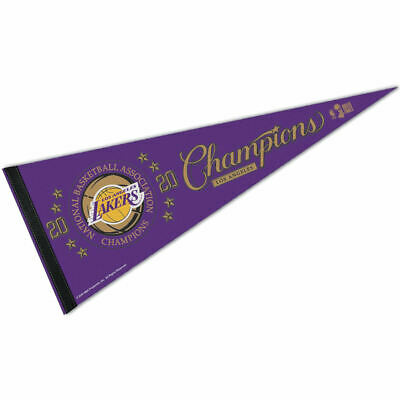 Los Angeles Lakers NBA 2020 Champions Pennant Flag