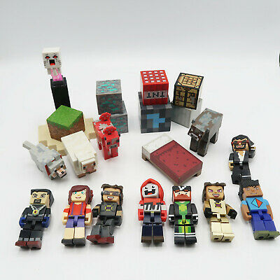Tube Hero Minecraft Action Figure Toy Lot 22 Pieces