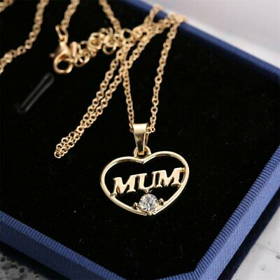 Mothers Day Love Gold Mom Grandma Charm Pendant Necklace Fsshion Jewelry Gift