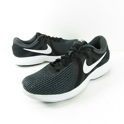 Nike Revolution 4 Running Shoes 908988-001 Mens Size 8-5 Black Gray Knit