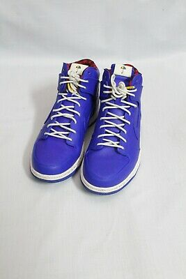 Nike Dunk Ultra Rain Jacket Shoes Racer Blue Plaid White 845055-400 Mens 10