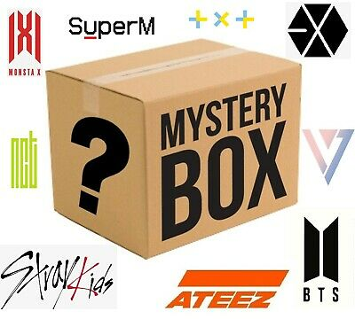 Kpop Albums and Merch Box
