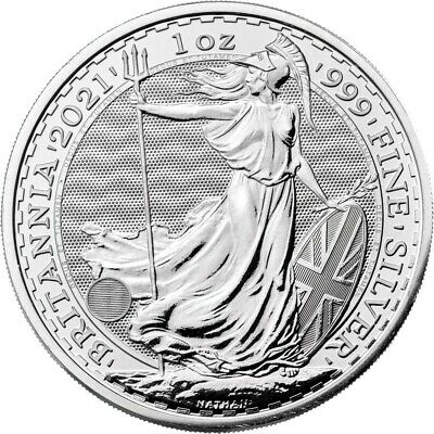 2021 United Kingdom 2 Pound Silver Britannia -999 1 oz BU - IN STOCK