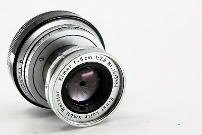 Leica Leitz Elmar 5cm 50mm f/2.8 Rangefinder Lens with Cap for M Mount 1958
