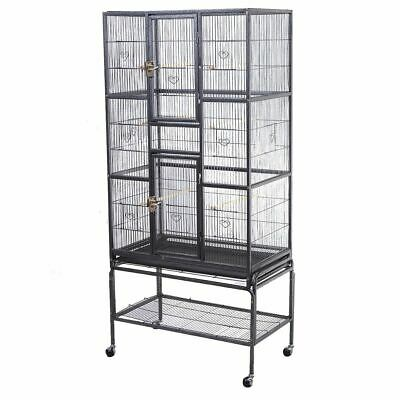 New Bird Parrot Cage Chinchilla Cockatiel Conure Large WStand - Two Doors