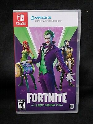 Fortnite The Last Laugh Bundle No Game Card Version Nintendo Switch NEW
