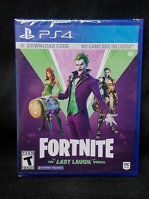 Fortnite The Last Laugh Bundle No Disc Version Playstation 4PS4 BRAND NEW