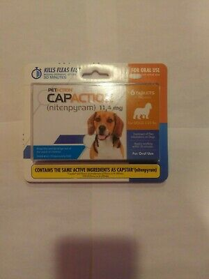 CAPACTION for dogs  2-25 lbs 6 tablets per-order free shipping