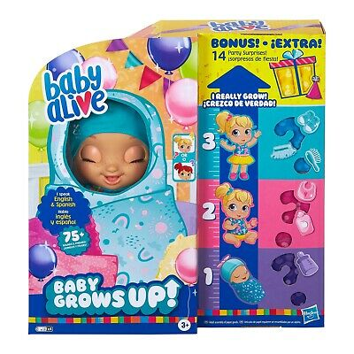 BABY ALIVE BABY GROWS UP - BONUS PACK DOLL HAPPY HOPE OR MERRY MEADOW NEW IN BOX